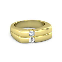 0.30 Carat Mens Diamond Ring Solid 14k Yellow Gold Band Size 5 6 8.5