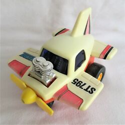 Vintage Hong Kong Plastic Friction Toy Airplane Hero St795