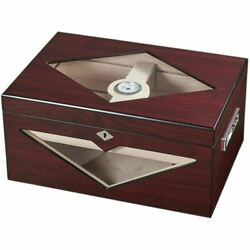 Hudson Red Antique Wood Stain 125 Cigar Humidor - Free Shipping