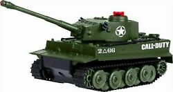 Dgl Call Of Duty Tiger I Remote-controlled Toy Battle Tank Limited Edition Green