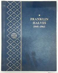 Complete Franklin Half Dollar Collection 1948-1963 Circ In Used Whitman Album