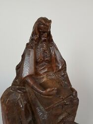 Moses, Judaica Sculpture By Jewish Polish Born Artist, Early 20th Ca. 1920
