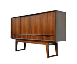 Mid-century Danish Rosewood Sideboard With Bar Cabinet By E. W. Bach 1960s
