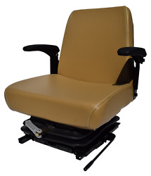 Brown Zero Turn Mower Suspension Seat With Slides And Armrests Scag Ariens