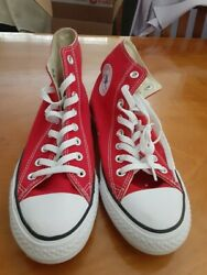 Converse Chuck Taylor All Stars Red High Top Womens 9 Mens 7