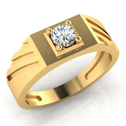 0.32 Ct Real Diamond Wedding Rings For Menand039s 14k Yellow Gold Bands Size 9 10 11