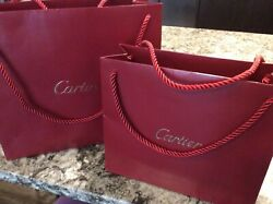 Cartier Authentic Two Empty Red Gold Bags 2 sizes $34.99