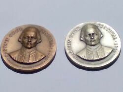 Capt.cook Festival 1967 Silver And Bronze Stamped Matching Numbered88 Set Md-30