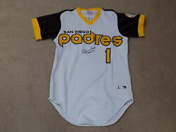 Ozzie Smith Signed Game Jersey San Diego Padres Hof Mlb