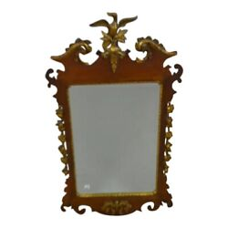 19th Chippendale/federal Style Wood And Gilt Wall Mirror