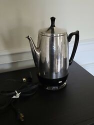 Vintage Ge General Electric Immersible 8 Cup Percolator Coffee Pot A1cm2c