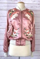 Size 40 S Guccification Bear Embroidered Pink Bomber Jacket Rare Htf