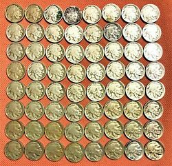 64 Buffalo Nickels From 1913-p Ty1 To 1938-d, Complete Set, Excellent Coins 5