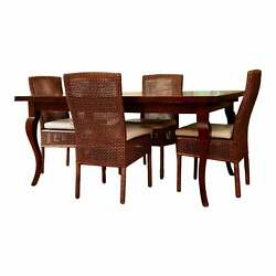 Vintage French Provincial Style Dining Table And Four Chairs—a Set