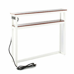 Slim Sofa Table With Usb Plug Ports And Power Outlets For Indoors