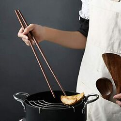 Wooden Noodles Kitchen Cooking Frying Chopsticks 16.5 Inches Brown Extra Long