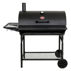 Char-griller 2735 Pro Deluxe Xl Charcoal Bbq Barbeque Grill Black Cast Iron