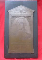 Monumental Brass Of President George Washington Rare Numbered Limited Edition