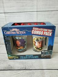 National Lampoon's Christmas Vacation Pint Glass Set Plus Rubber Ice Cube Tray