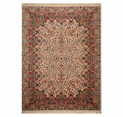 8and0398x 12and039 Authentic Karastan Floral Kirmaan 100 New Zealand Wool Area Rug Ivory