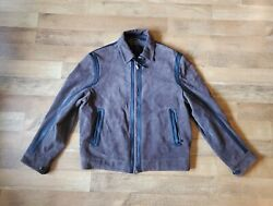 Brioni Size 54 Brown Suede Leather Jacket Made In Italy