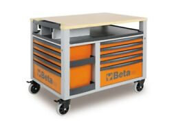 C28 O Beta Supertank Trolley With Worktop And Ten Drawers
