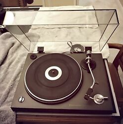 Kenwood Kd1500 Automatic Cut, Belt Drive, Turntable With Shure Needle Cartridge