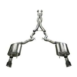 Corsa 14342blk Black Xtreme Dual Exhaust 15-17 Ford Mustang Gt Convertible 5.0l