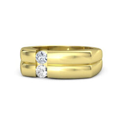 0.3 Ct Genuine Diamond 14k Solid Yellow Gold Mens Engagement Band Size 4 5 6 7 8