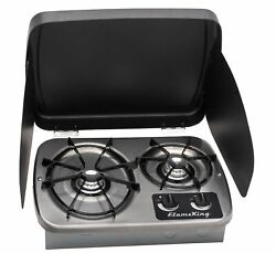 2-burner Drop-in Rv Cooktop Stove Includes Cover New