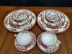 Spode Copeland India Indian Tree 2 Place Settings 10 Pcs Old Stamp Excellent Con