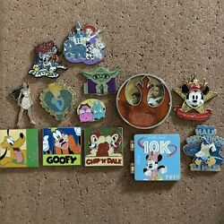 Authentic Disney Trading Pins - Lot Of 13 - Le, Lr, Oe, Vintage Pins