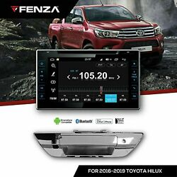 Radio Android 8.0 Hd Tailgate Handle With Rear View For 2016-2020 Toyota Hilux