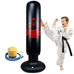 Locsee Punching Bag For Kids, Inflatable Freestanding Bop Bag For Adults And Kid