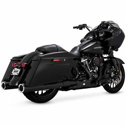 Vance And Hines 4 1/2in. Hi-output Black Slip On Mufflers-46463