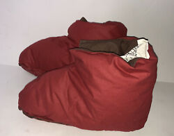 Restoration Hardwear 6 7foot Duvet Slipper Cover Comfort Red Womens New With Tag