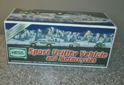 2004 Hess Toy Truck 40th Anniversary Sport Utility Vehicle And Motorcycles Nib