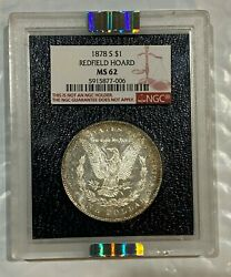 1878-s 1 Morgan Silver Dollar Ngc Ms 62 Redfield Collection Paramount Toned