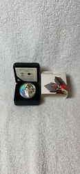 Vancouver 2010 Olympics Royal Canadian Mint 25 Silver Coin 2007 Biathlon