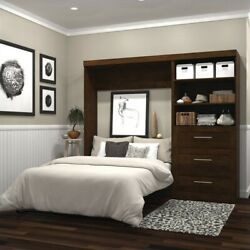 Atlin Designs 95 Full Wall Bed With 3 Drawer Storage Unit Chocolate