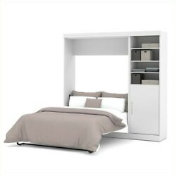Atlin Designs 84 Full Wall Bed Set In White