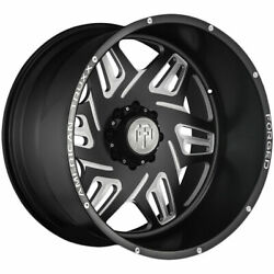 24x14 Black Milled Wheels American Truxx Forged Atf1908 Orion 8x170 -76 Set Of
