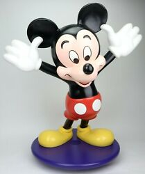 Vintage Mickey Mouse Prop Figure Store Display Disney World Free Standing Fig
