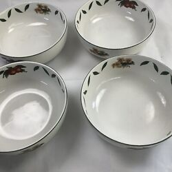 4 Cades Creek By Wsp Round Serving Bowl With Apple And Leaf Pattern 7andrdquo Round