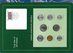 Coin Sets Of All Nations East Germany 1979-1980 Unc 5 Mark Km29 32000