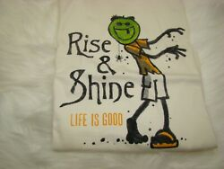 Life Is Good Mens S/s Crusher Tee Jake Zombie Rise And Shine Menand039s 2xl New