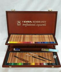 Lyra Rembrandt Professional Aquarell - Wooden Box Set Made In Germany