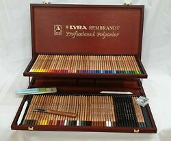 Lyra Rembrandt Professional Polycolor - Wooden Box Set Made In Germany