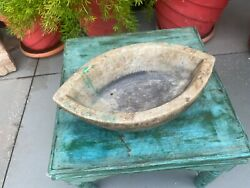 Ancient Mrable Stone Hand Carved Old Indian Spice Grinder Mortar Kharal Bowl