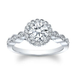 0.75 Ct Real Diamond 14k Solid White Gold Bridal Engagement Ring Sizes 5 6 7 8 9